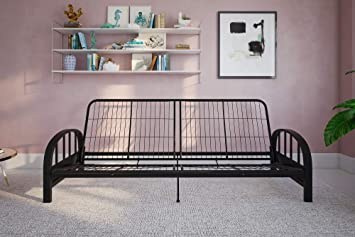 Awesome Dhp Aiden Metal Futon Frame Black Ncnpc Chair Design For Home Ncnpcorg