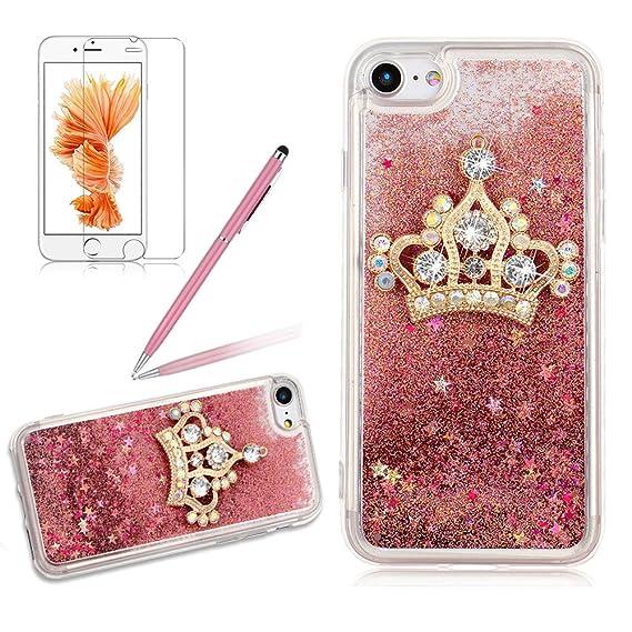 Amazon Com Rhinestone Queen Crown Liquid Case For Iphone Iphone 6
