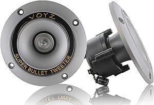 "VOYZ 300 Watt Max 3.5"" Piezo Super Horn Tweeters Aluminum Diaphragm 4-8 ohms 1 Pair (2pcs) (PET-1919L)"