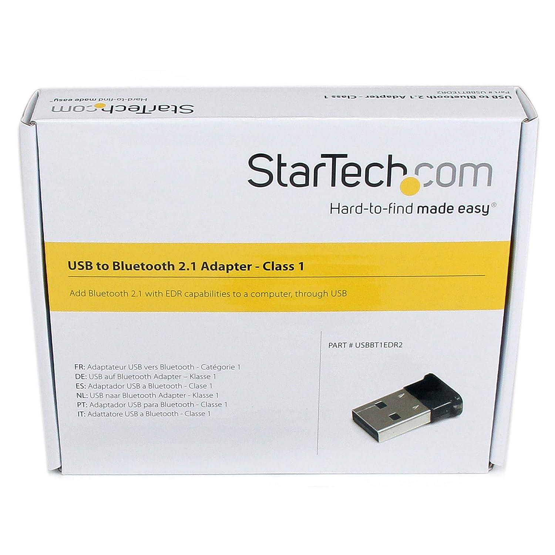 StarTech.com USBBT1EDR4 - Micro adaptador USB 2.0 externo Bluetooth 4.0 EDR para ordenador de sobremesa o portátil: Startech: Amazon.es: Informática