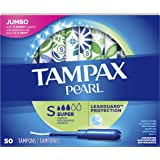 Tampax Pearl Tampons Super Absorbency with LeakGuard Braid, Unscented, 50 Count
