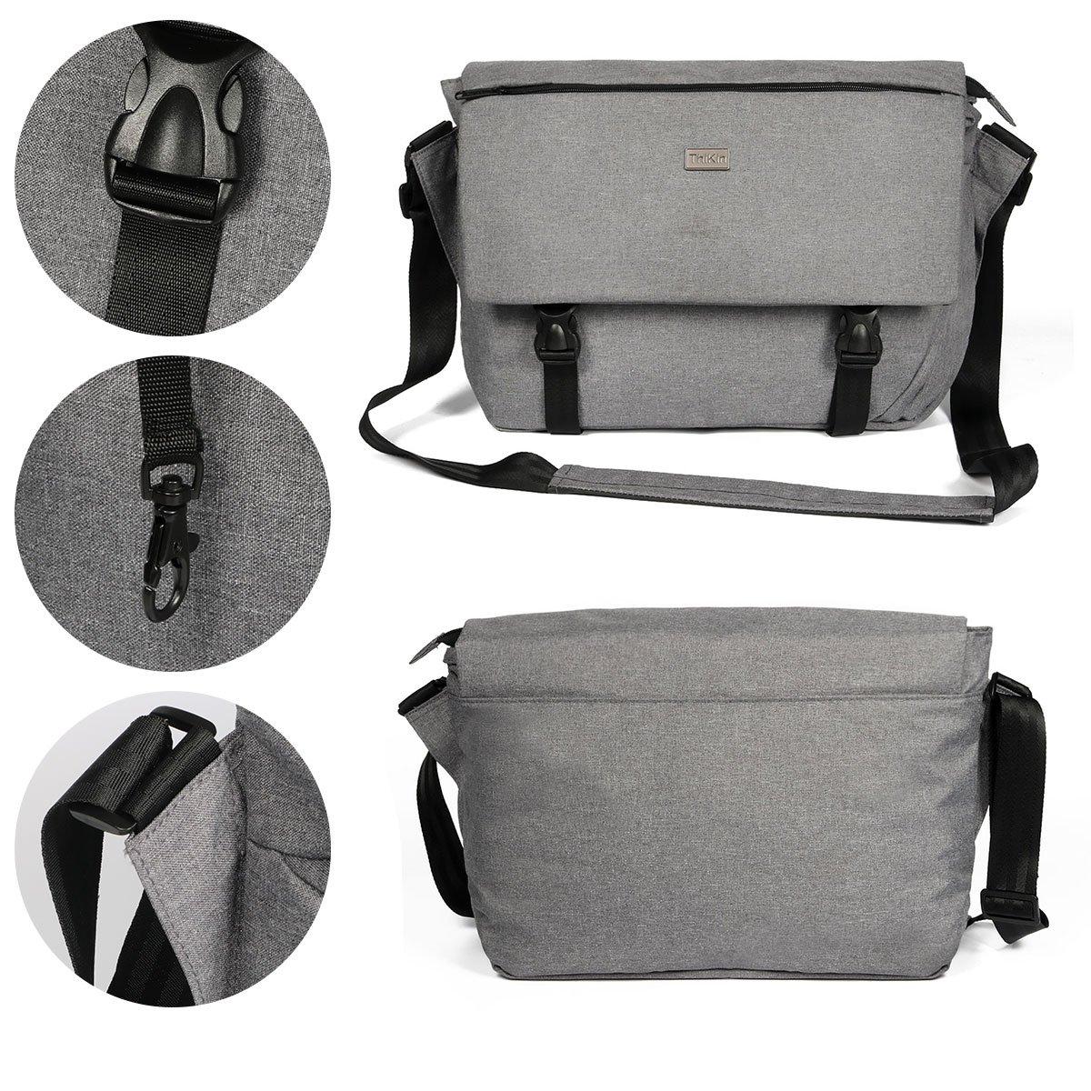 b5c8863b83 ThiKin Classic Sturdy Lightweight Casual Daily 14-Inch Laptop Messenger Bag  for Women and Men Crossbody Shoulder Bag School Satchel