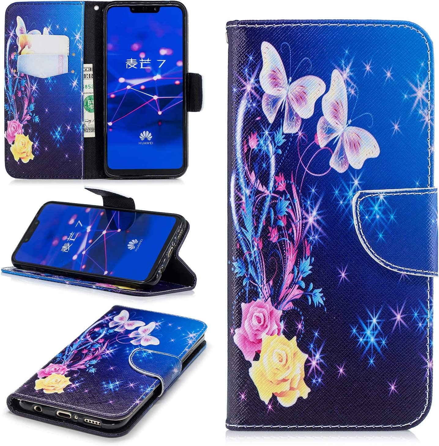 Ostop Brieftasche Leder Hülle Für Huawei Mate 20 Elektronik