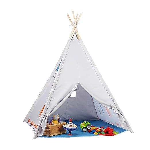 Relaxdays Tipi Spielzelt Tipi Zelt Kinderzimmer Kinderzelt Drinnen