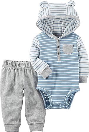 666e29c69 Amazon.com  Carter s Baby Boys  2 Piece Hooded Bodysuit Pants Set ...