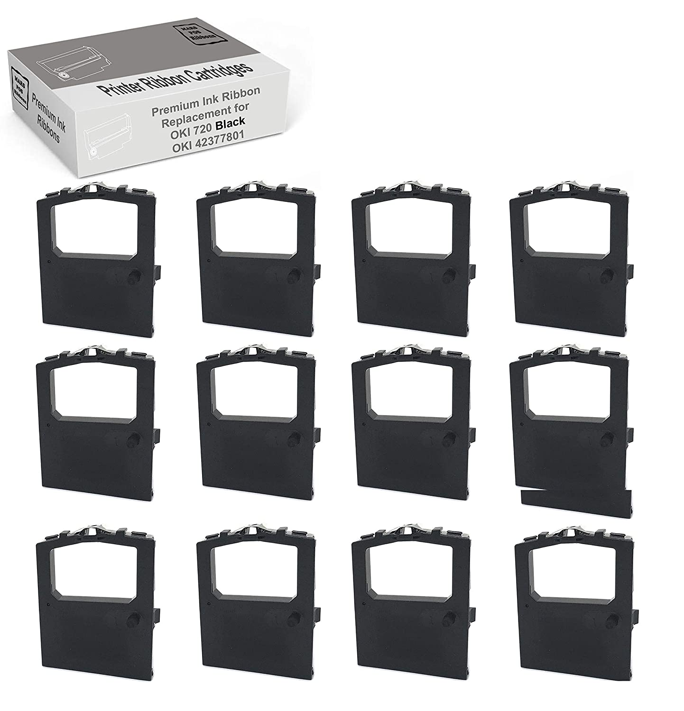 MARS POS Ribbons Compatible with Okidata 42377801 Oki Microline 420 Black, 12 Pack
