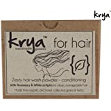 Krya Conditioning Herbal shampoo powder for dry, rough, easily tangled hair with split ends, - made from 24 rich Ayurvedic herbs that gently cleanse & naturally condition hair. Does not strip hair of natural oils or Damage cuticular structure - Sulphate free, Paraben free, Silicone free, Chemical free , All Natural - 200 gm