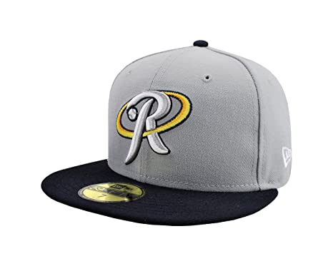 NEW ERA 59fifty Fitted Baseball HAT Rieleros De Aguascalientes Mexican League Gray/navy Blue CAP