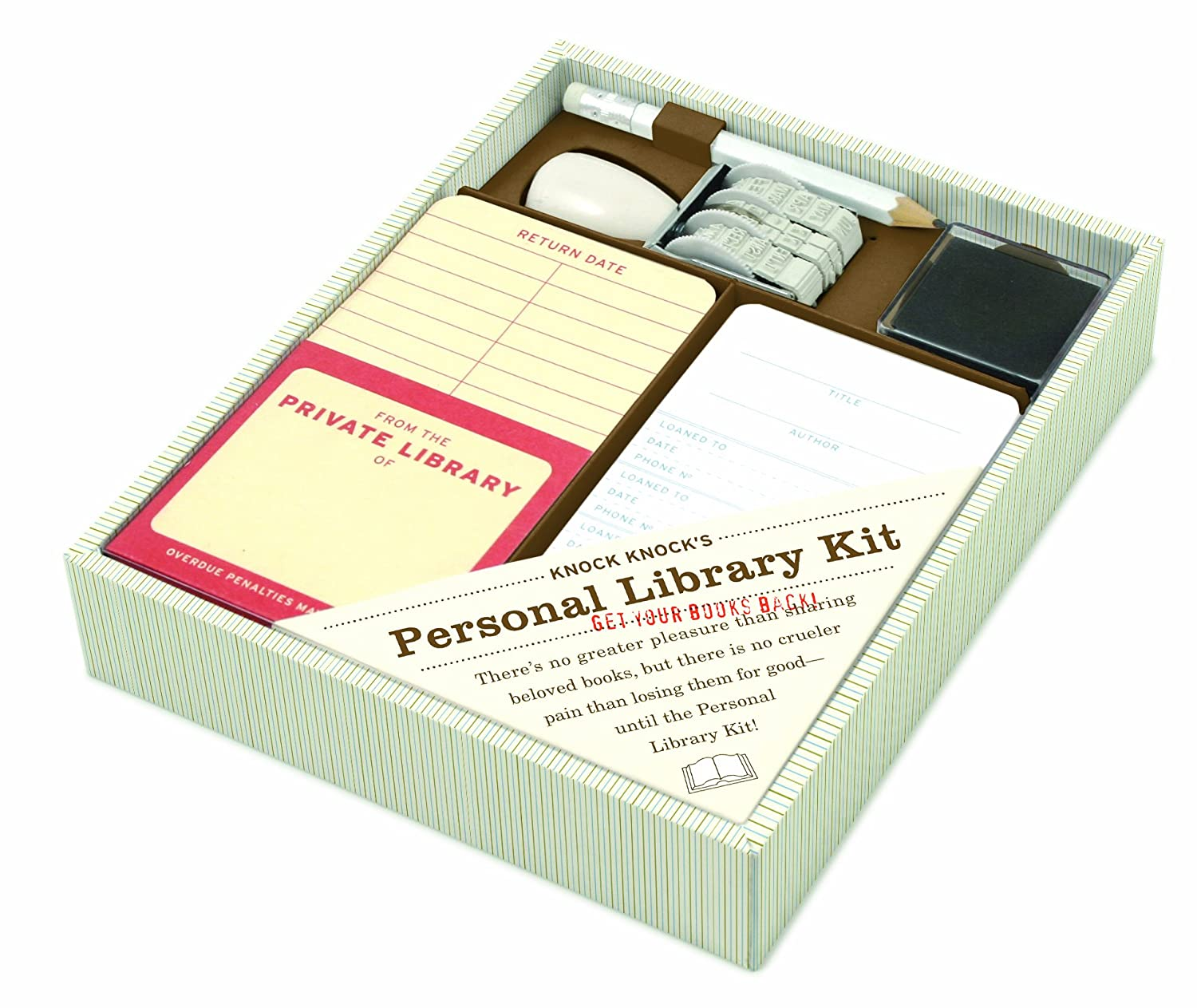 Amazon knock knock personal library kit 15000 office products solutioingenieria Image collections