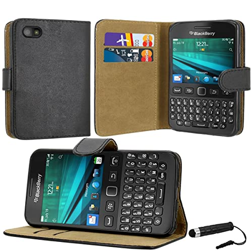 Case Collection Premium Quality Leather Book Style Wallet Flip Case Cover With Credit Card & Money Slots For Blackberry 9720