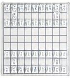 アクリル製 ミニ将棋盤 セット ポップ デザイン インテリア アクリル 将棋 (クリスタルホワイト)