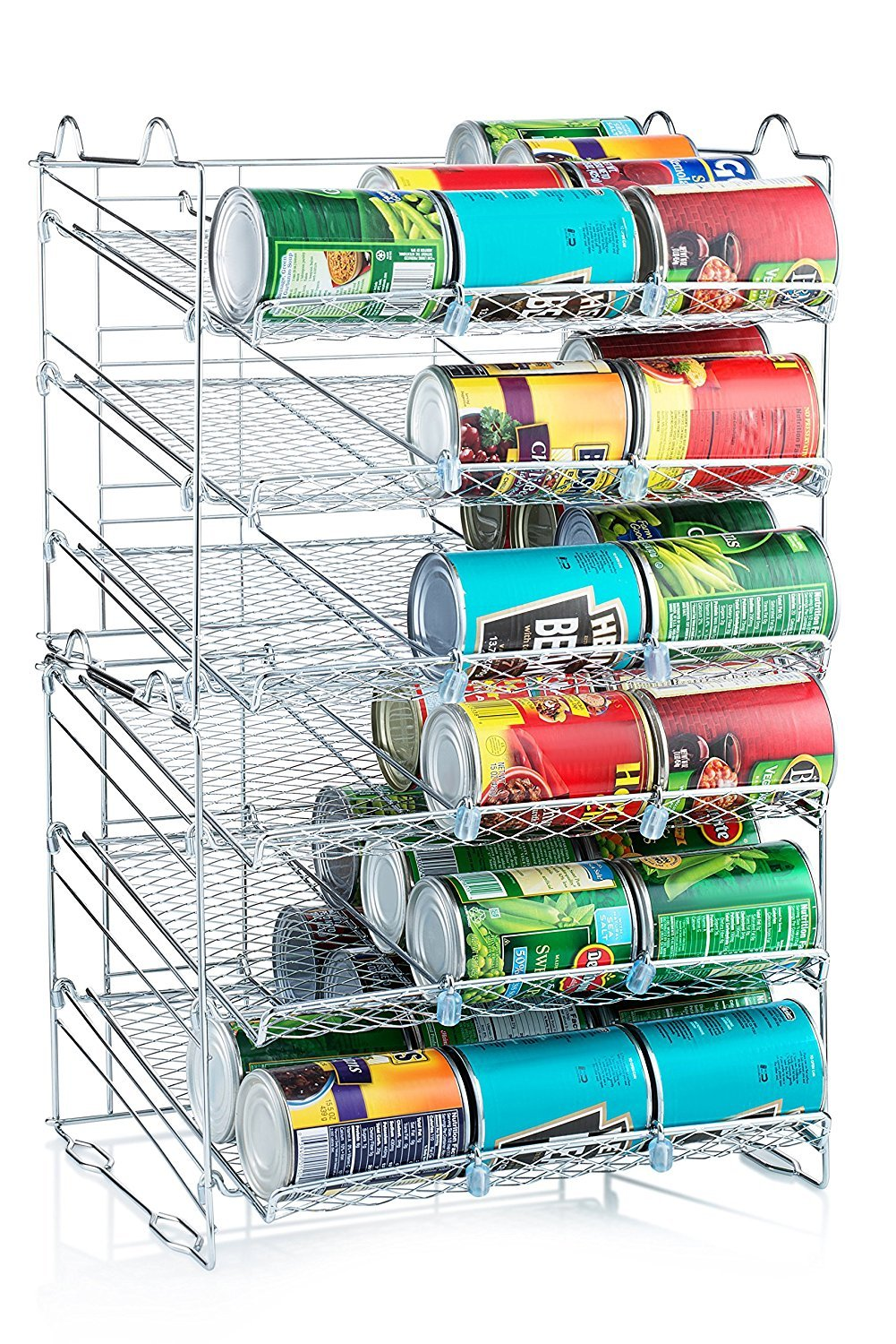 Amazon.com: Sagler Chrome Stackable Can Organizer, Can Rack Holds up ...