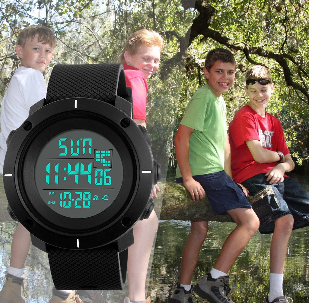 Boys Digital Watch -Kids Sports Waterproof Outdoor Watch with Alarm Stopwatch Wrist Watches for Childrens by SEEWTA (Image #7)