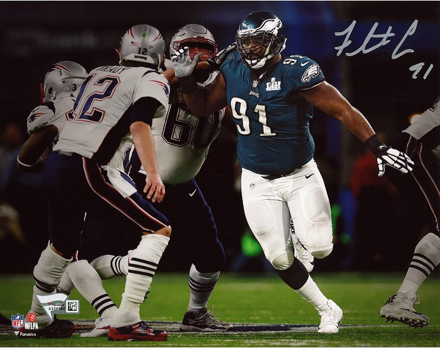 Fletcher Cox Philadelphia Eagles Autographed 8' x 10' Super Bowl LII Champions Photograph - Fanatics Authentic Certified