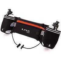 Lava Activ Adjustable Running Hydration Belt + 2x 300ml Water Bottles ideal for Marathon & Fitness Training, Hiking & Exercise | Fits Smartphones | The HYDRABELT