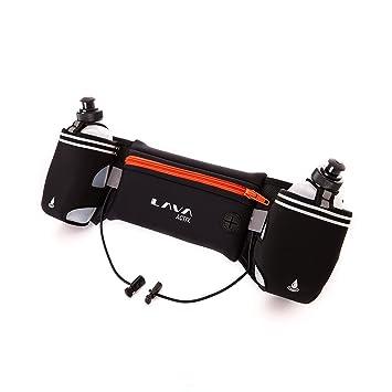 Lava Activ Cinturón de Running Hydrabelt Ajustable 2 Botellas Agua ... 9db46f08d4bf