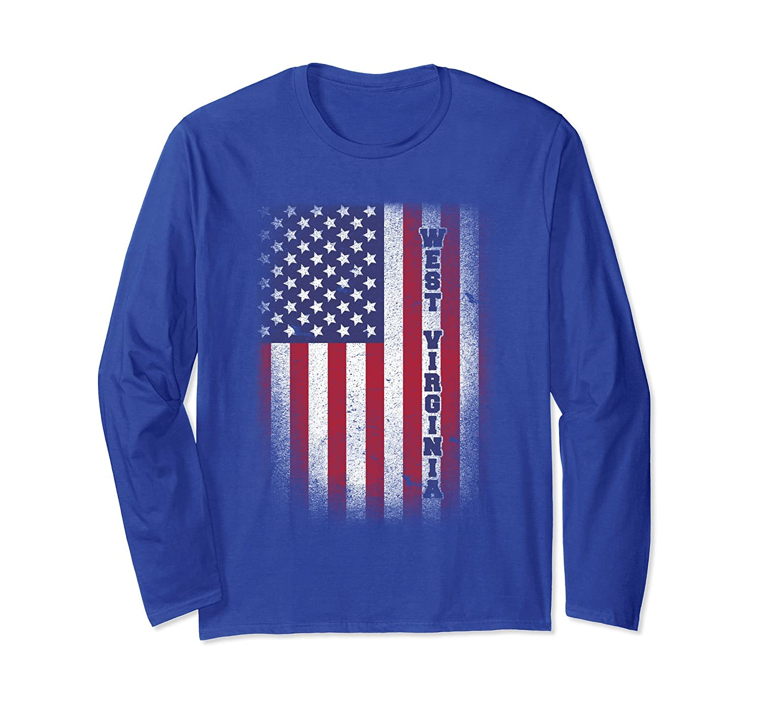 West Virginia T-shirt American Flag Usa Patriot United State-anz