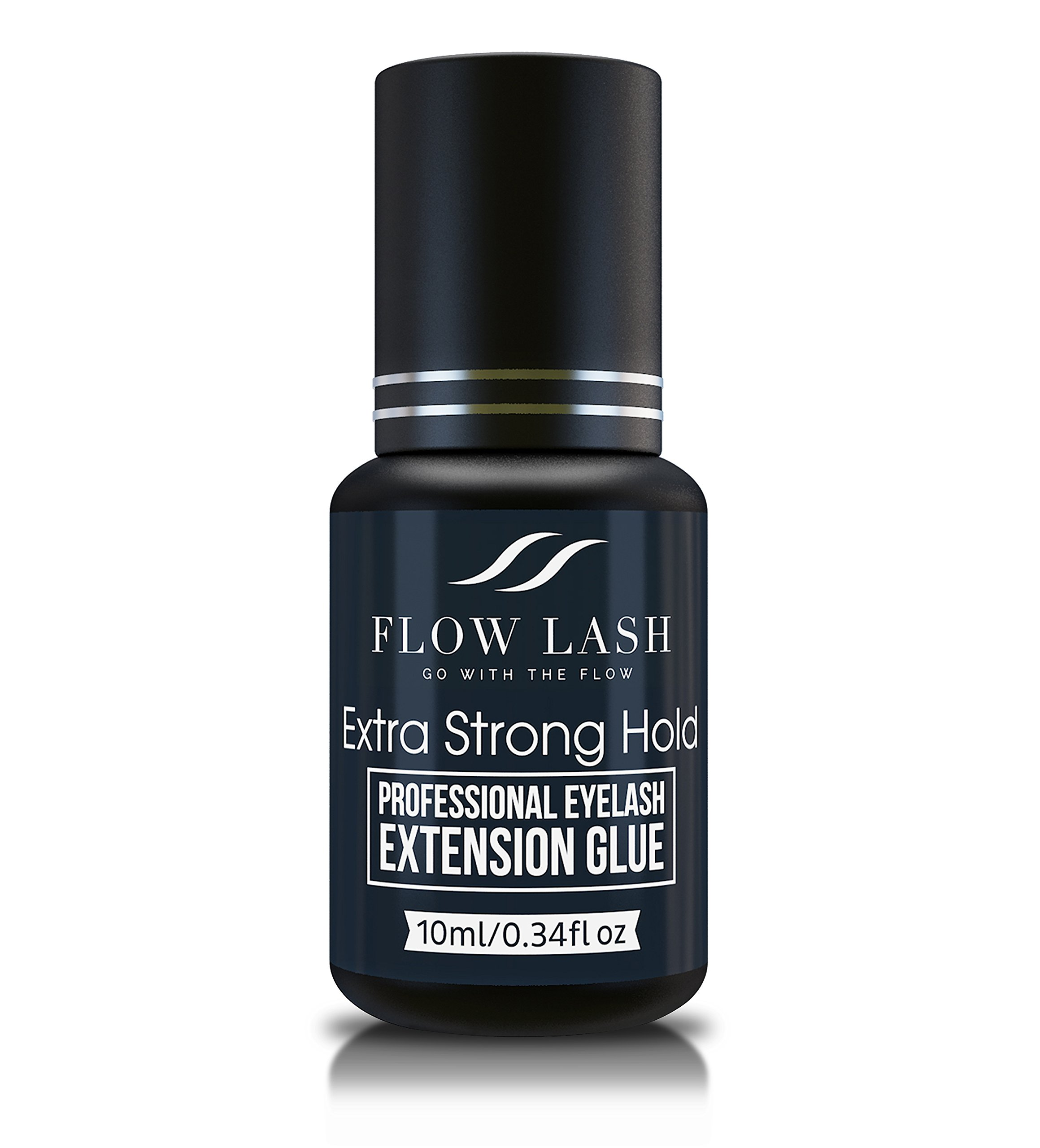 Professional Eyelash Extension Glue - Extra Strong Hold, Long Lasting, Quick Dry Time - Premium Professional Grade Adhesive, Formaldehyde & Latex Free - 10ml by Flow Lash by Flow Lash (Image #1)