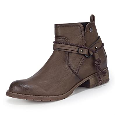 TOM ... TAILOR 5897304 Damen Stiefelette Lederimitat ... TOM 8a661b