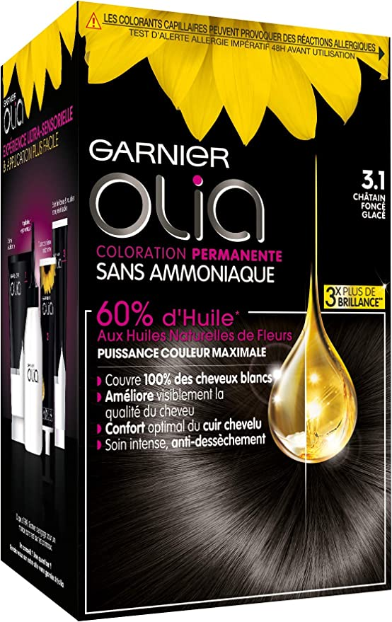Garnier Olia Color de Pelo Permanente: Castaño Oscuro ...