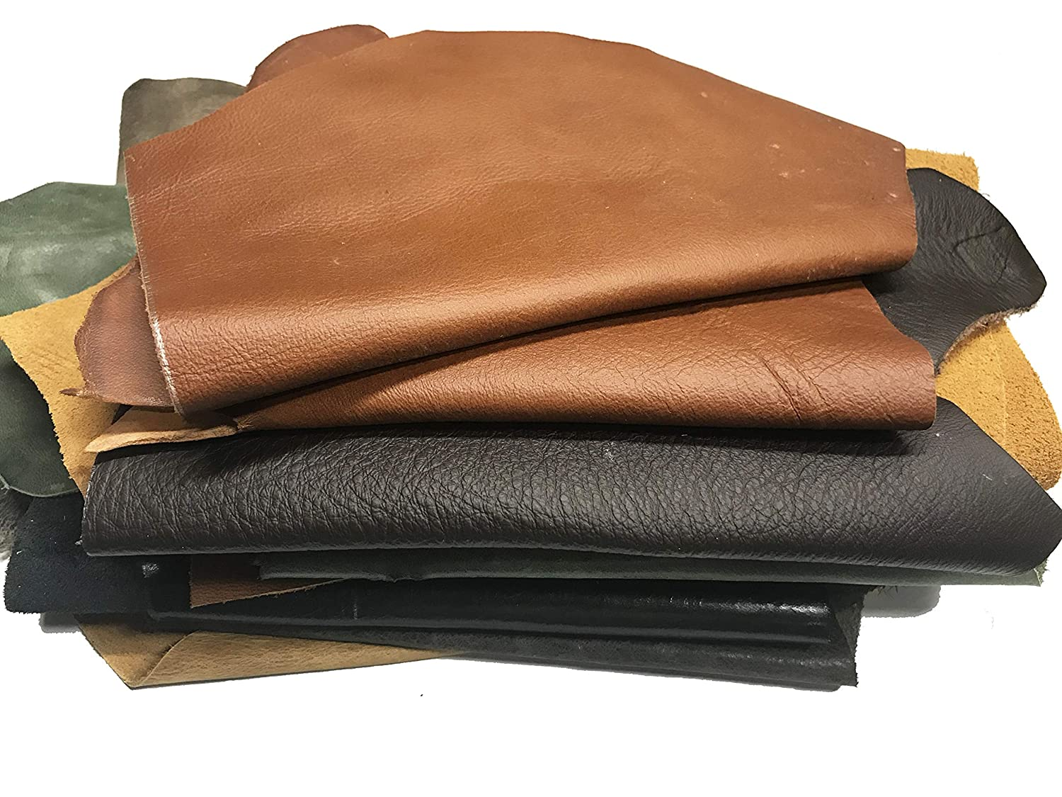 Small Leather Scraps of Various Colors for Jewelry Making and Other Small Crafts 2 lbs