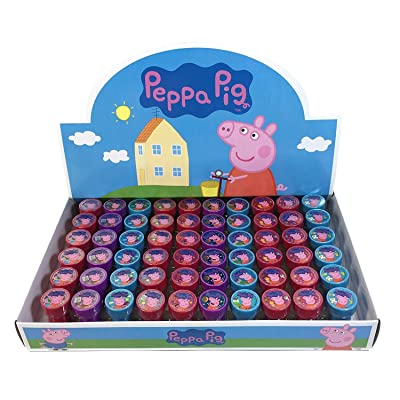 Peppa pig 30x Stampers Self-inking Birthday Party Favors: Toys & Games