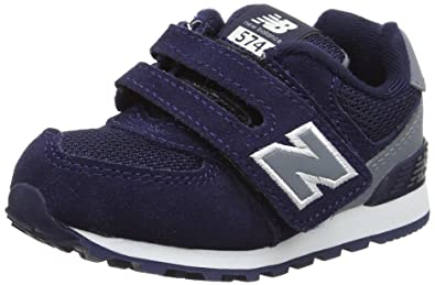 New Balance 574 Hook and Loop High Visibility, Sneakers Basses Mixte Enfant, Bleu (Navy), 20 EU