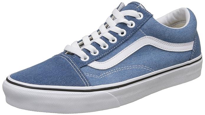 Vans Old Skool Sneaker Damen Herren Kinder Unisex Denim Blau mit weißen Streifen