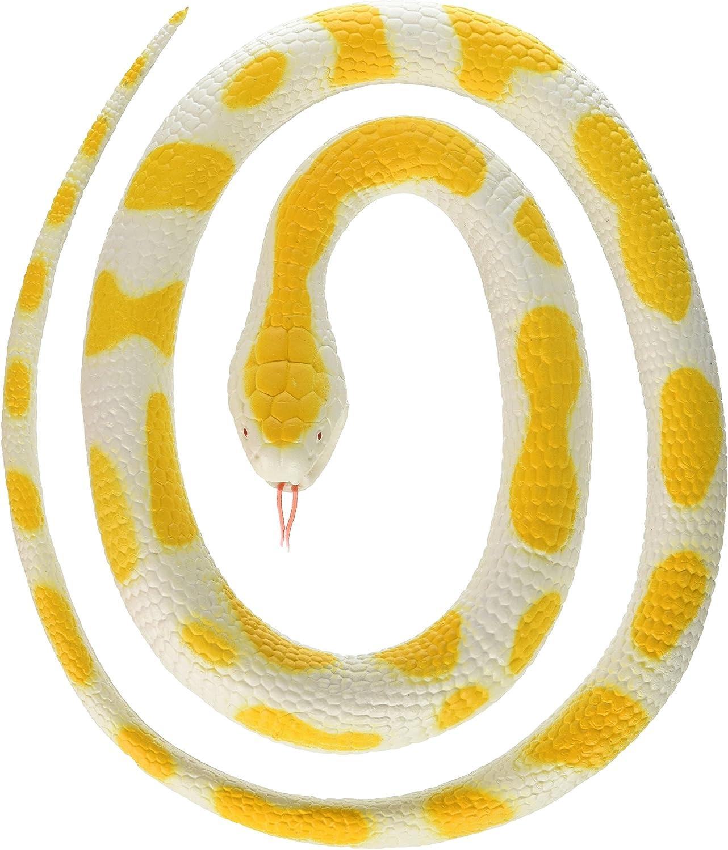 jaune//blanc Wild Republic 20769 Albino Python Caoutchouc Serpent 117 cm-Serpent