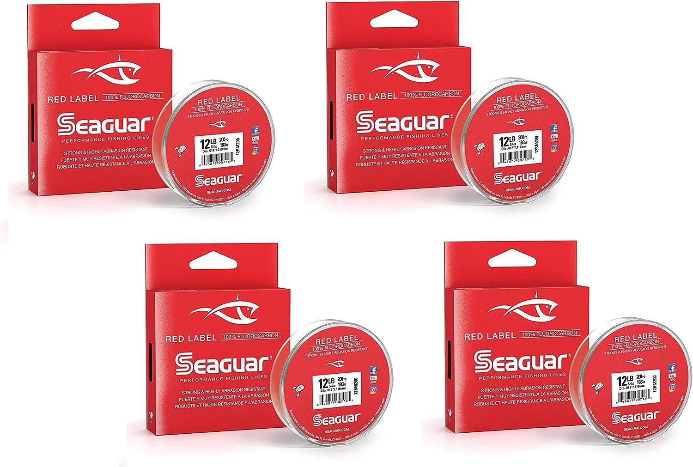 Seaguar Red Label 100/% Fluorocarbon 200 Yard Fishing Line