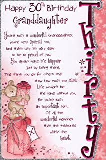 Granddaughter 30th Birthday Card