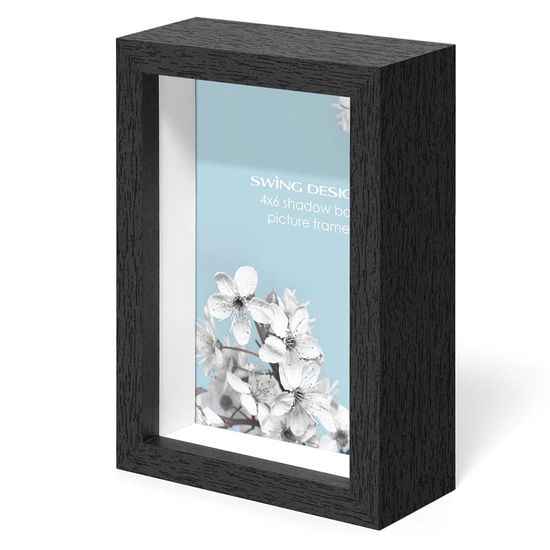 Swing Design Chroma Shadow Box Frame, 4 by 6-Inch, Black 1011-46