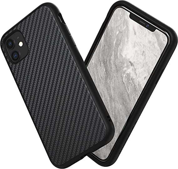 Amazon Com Rhinoshield Case Compatible With Iphone 11 Solidsuit Shock Absorbent Slim Design Protective Cover With Premium Matte Finish 3 5m 11ft Drop Protection Carbon Fiber Finish Black