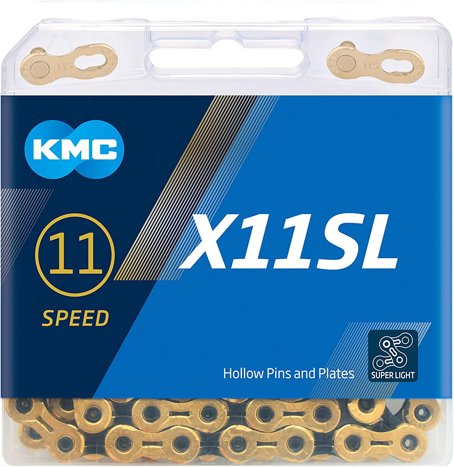 KMC X11 Chain 11 Speed 118 Links Solid Pins Inner and Outer Plates w// Quick Link