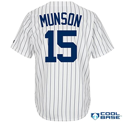 a8096d0a3 Majestic New York Yankees Thurman Munson Men's Cool Base Cooperstown Home  Jersey (Small)
