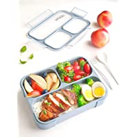 Petit Bento- 3 Compartment Lunch Boxes. Bento Box Lunchbox Snack Containers for Kids, Boys Girls Adults. School Daycare…