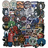 50PCS Supernatural TV Stickers Laptop Stickers Bedroom Wardrobe Car Skateboard Motorcycle Bicycle Mobile Phone Luggage Guitar DIY Decal for Teens Adult(SPN)