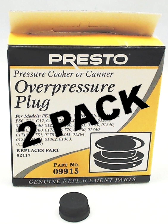 2 Pk, Presto Pressure Cooker Overpressure Plug 09915