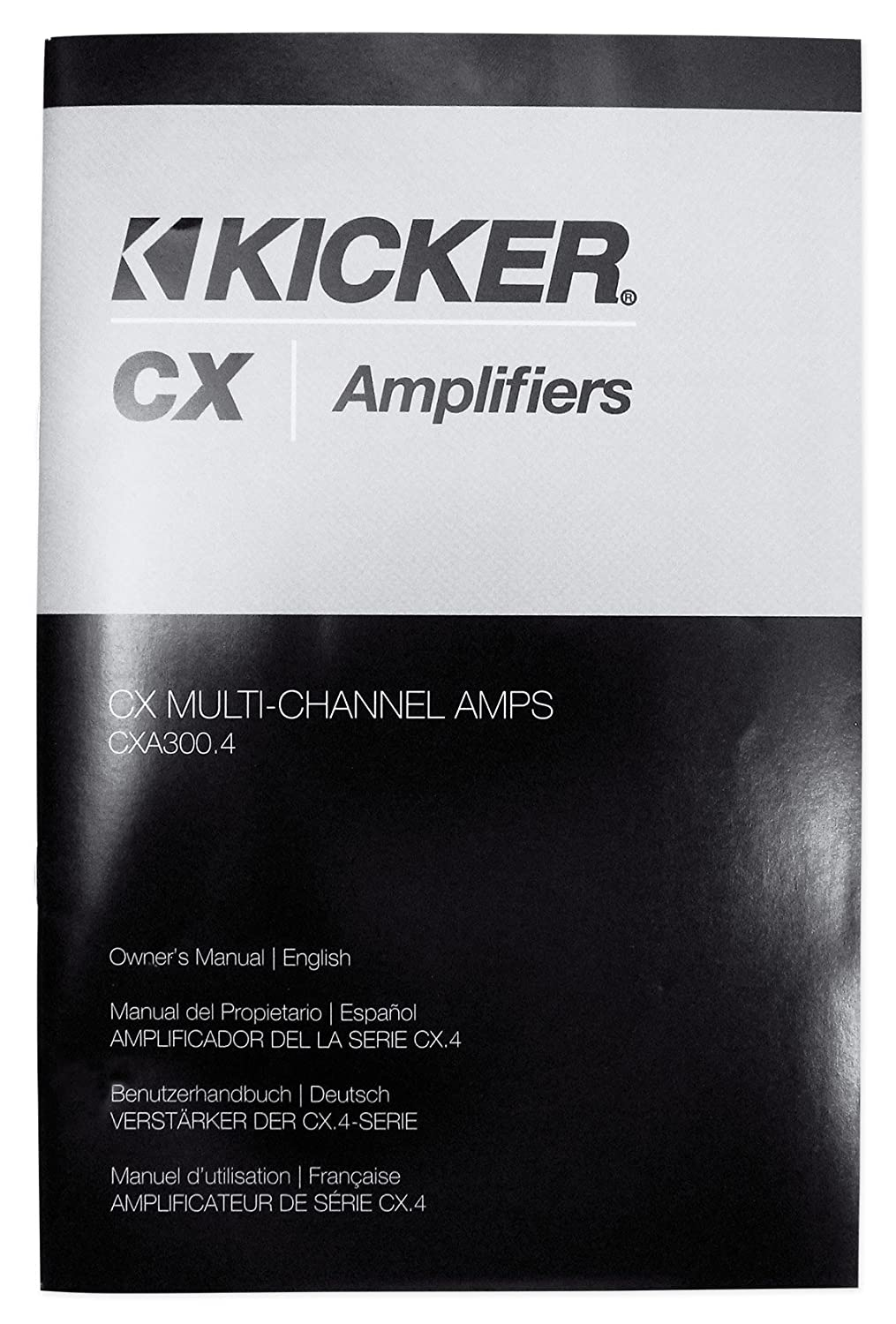 Amazon.com: Kicker 43CXA3004 CXA300.4 300 Watt RMS 4-Ch. Car Stereo Amplifier+Amp Kit: Car Electronics