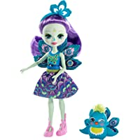 Enchantimals-FXM74 Patter Peacock y Flap, muñeca con mascota