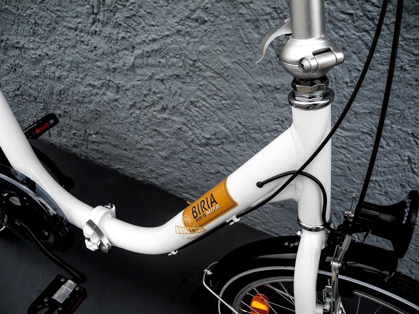 Shimano Folding Bike - Bicicleta eléctrica plegable (20 pulgadas, aluminio), color blanco: Amazon.es: Deportes y aire libre