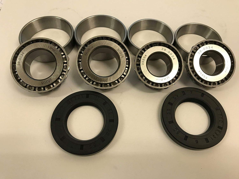 For 2 hubs 30204 30205 Seal Daxara Maypole Trailers x4 Erde wheel bearings