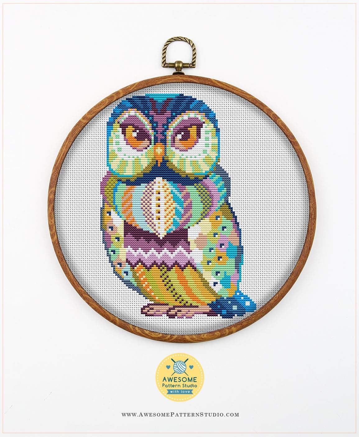 Embroidery Designs Needlepoint Kits Cross Stitch World Embroidery Stitches Mandala Owl #K542 Cross Stitch Kit Funny Animals Stitching