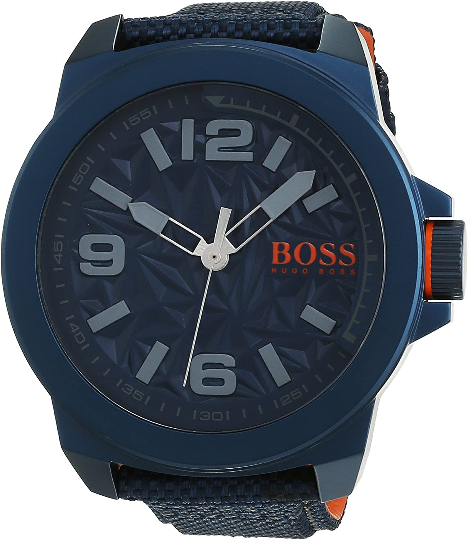Hugo Boss Reloj Analógico para Hombre de Automático con Correa en Tela 1513353