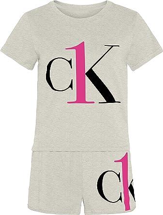 Calvin Klein S/S Short Set Juego de Pijama para Mujer