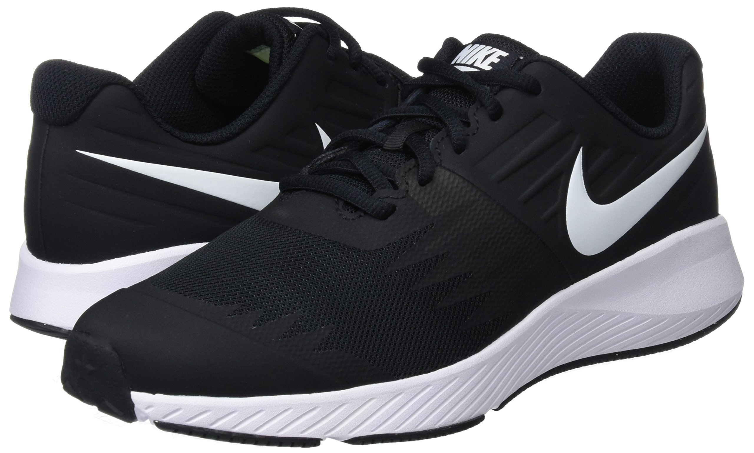Nike Kids' Grade School Star Runner Running Shoes (3.5, Black/White) by Nike (Image #5)