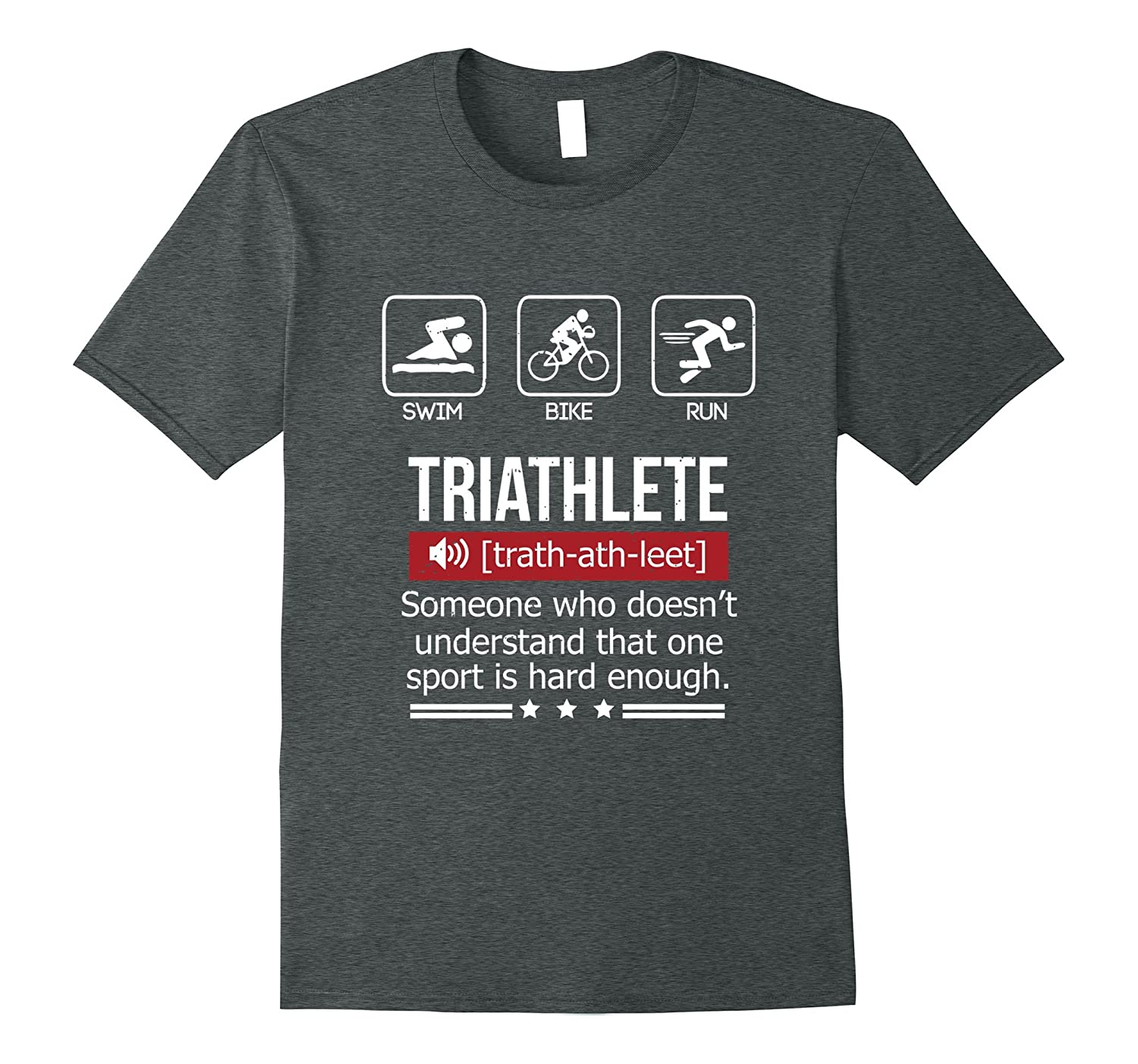 Womens Funny Triathlon sports T Shirt-Awarplus