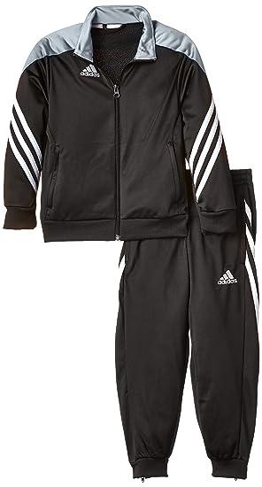 cheaper 54471 fa904 Adidas Boys Sereno 14 Tracksuit - Black Silver White, Size 116