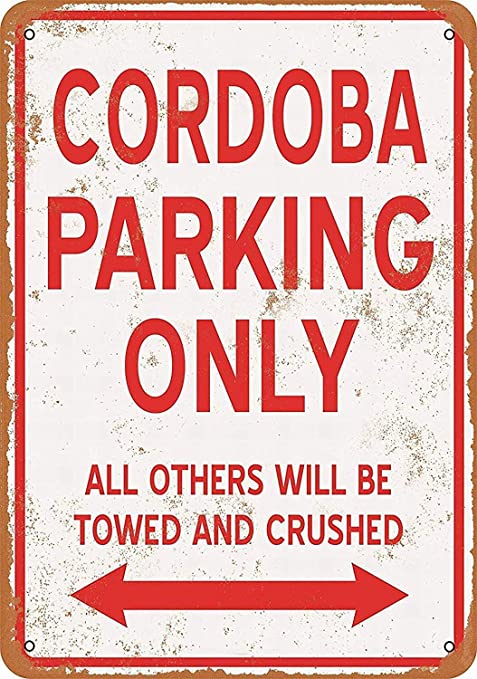 Shunry Cordoba Parking Only Placa Cartel Vintage Estaño Signo ...