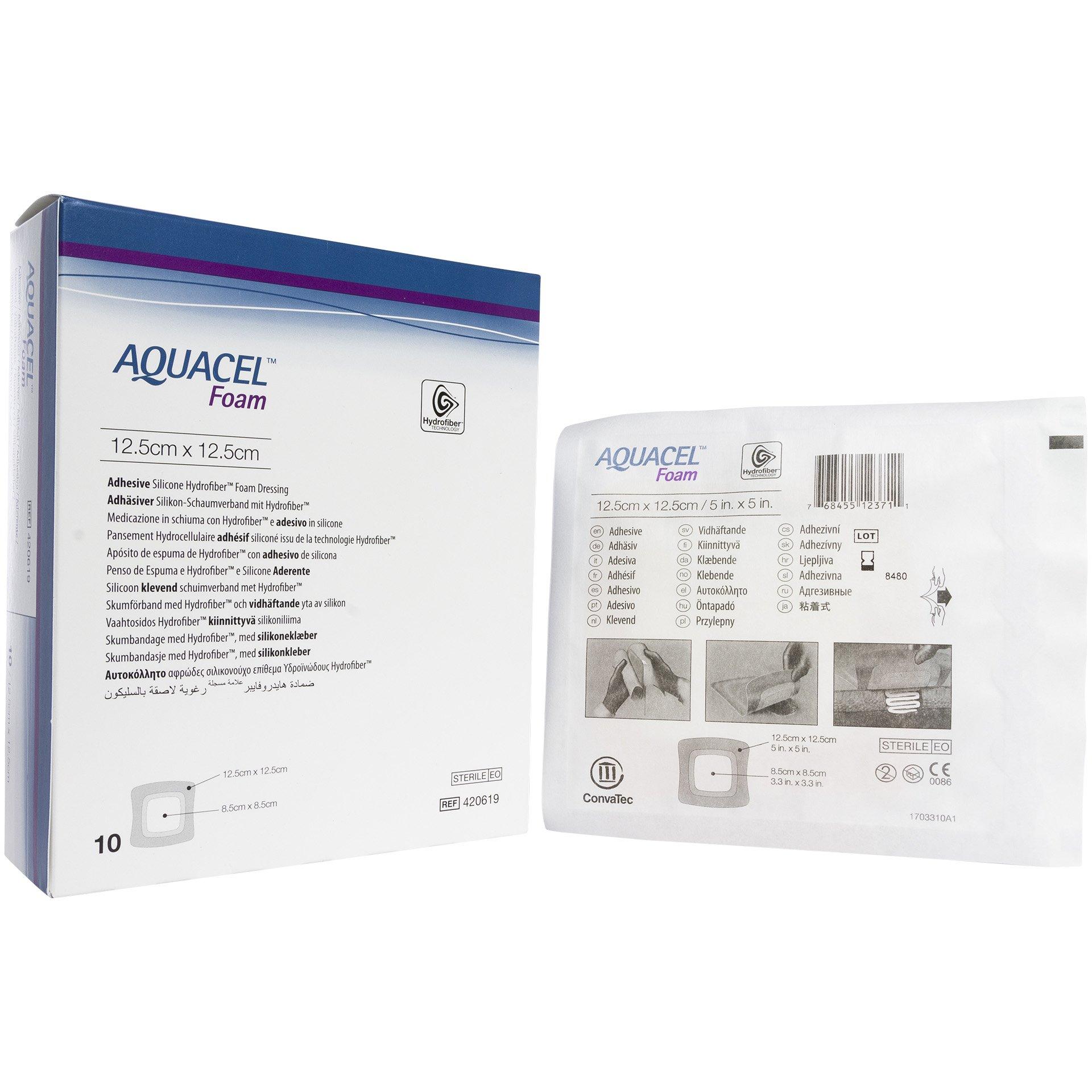 Aquacel Foam 5'' x 5'' (Box of 10 Dressings)